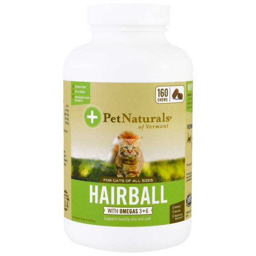 Pet Naturals of Vermont, Hairball for Cats, 160 Chews, 8.46 oz (240 g) Review