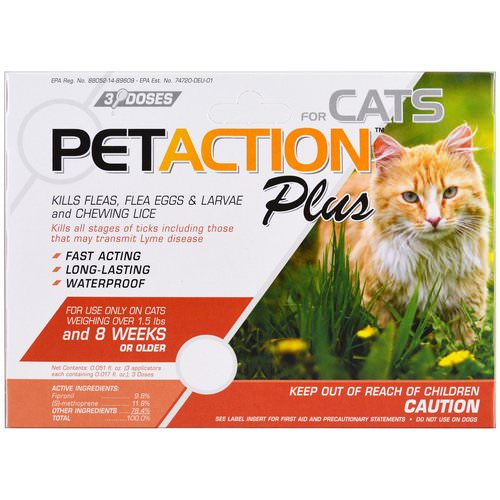 PetAction Plus, For Cats, 3 Doses - 0.017 fl oz Each Review