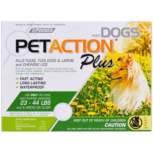 PetAction Plus, For Medium Dogs, 3 Doses- 0.045 fl oz Review