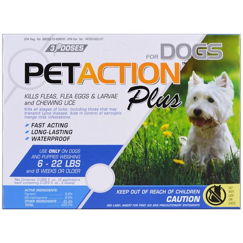 PetAction Plus, For Small Dogs, 3 Doses - 0.023 fl oz Review