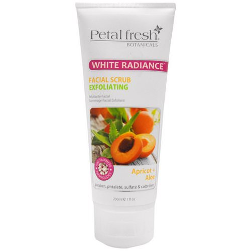 Petal Fresh, Botanicals, White Radiance Facial Scrub Exfoliating, Apricot & Aloe, 7 fl oz (200 ml) Review