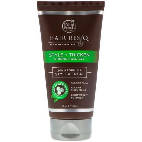 Petal Fresh, Hair ResQ, Thickening Treatment, Style + Thicken Strong Hold Gel, 5 fl oz (150 ml) Review