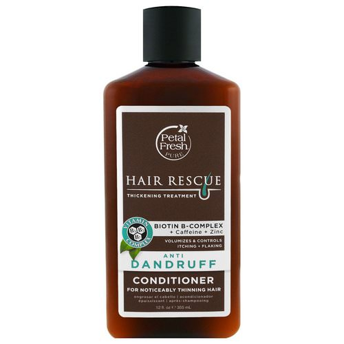 Petal Fresh, Pure, Hair Rescue Thickening Treatment Conditioner, Anti Dandruff, 12 fl oz (355 ml) Review
