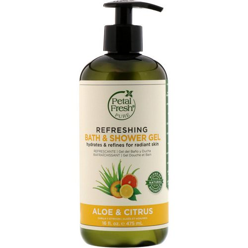 Petal Fresh, Pure, Refreshing Bath & Shower Gel, Aloe & Citrus, 16 fl oz (475 ml) Review