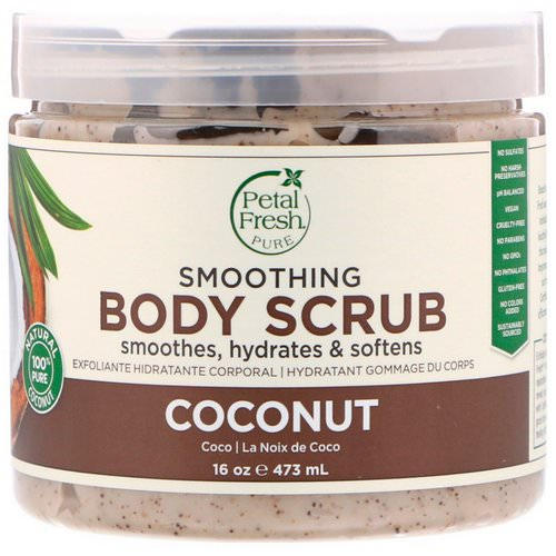 Petal Fresh, Pure, Smoothing Body Scrub, Coconut, 16 oz (473 ml) Review