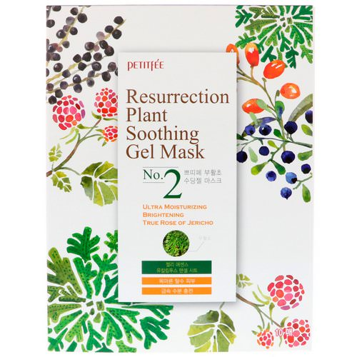 Petitfee, Resurrection Plant Soothing Gel Mask, 10 Masks, 30 g Each Review