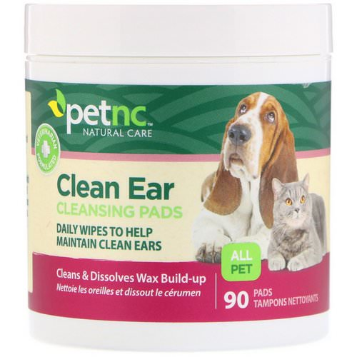 petnc NATURAL CARE, Clean Ear Cleansing Pads, For Cats and Dogs, 90 Pads Review