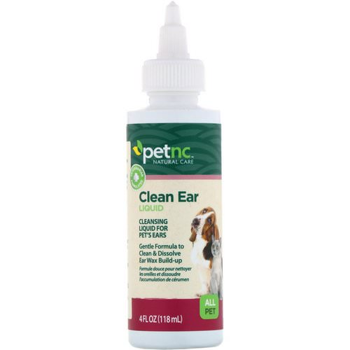 petnc NATURAL CARE, Clean Ear Liquid, All Pet, 4 fl oz (118 ml) Review