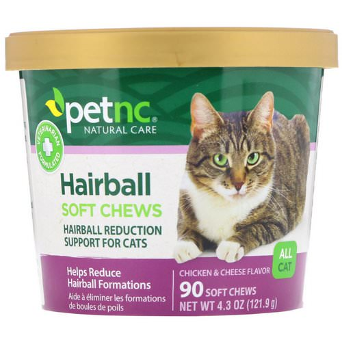 petnc NATURAL CARE, Hairball Soft Chews, All Cat, Chicken & Cheese Flavor, 90 Soft Chews Review