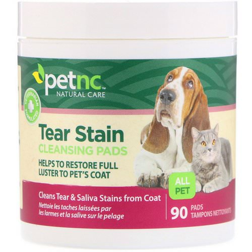 petnc NATURAL CARE, Tear Stain Cleansing Pads, For Cats & Dogs, 90 Pads Review