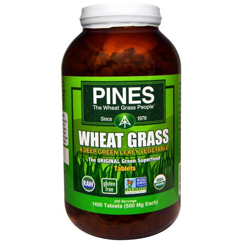 Pines International, Organic Pines Wheat Grass, 500 mg, 1400 Tablets Review