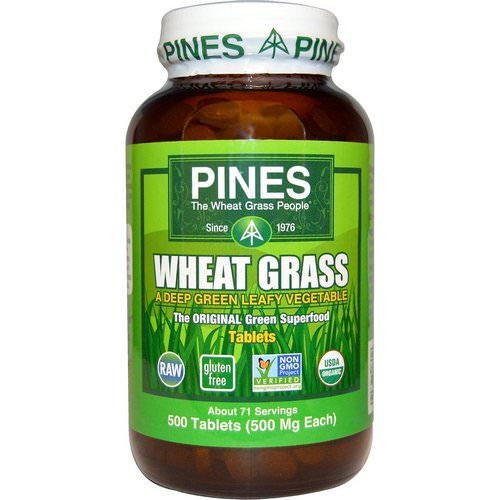 Pines International, Organic, Wheat Grass, 500 mg, 500 Tablets Review
