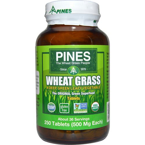 Pines International, Wheat Grass, 500 mg, 250 Tablets Review
