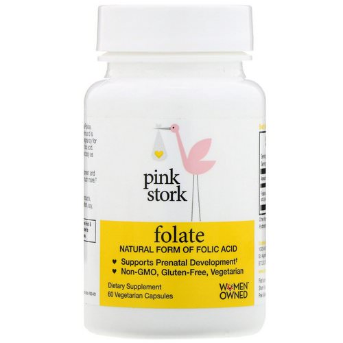 Pink Stork, Folate, Natural Form of Folic Acid, 60 Vegetarian Capsules Review