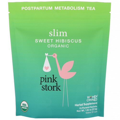 Pink Stork, Slim, Postpartum Metabolism Tea, Sweet Hibiscus, 15 Pyramid Sachets, 1.32 oz (37.5 g) Review