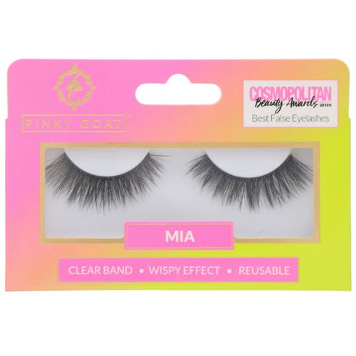Pinky Goat, Mia, Wispy Effect False Eyelashes, 1 Pair Review
