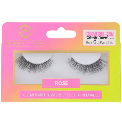 Pinky Goat, Rose, Wispy Effect False Eyelashes, 1 Pair Review
