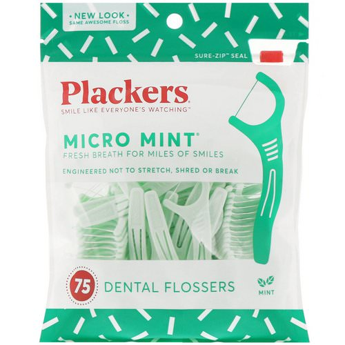 Plackers, Micro Mint, Dental Flossers, Mint, 75 Count Review