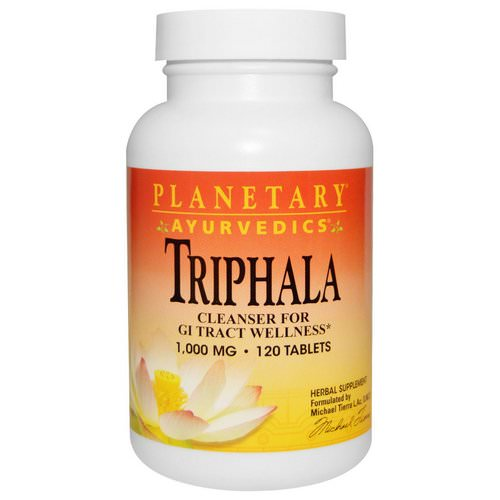 Planetary Herbals, Ayurvedics, Triphala, 1,000 mg, 120 Tablets Review
