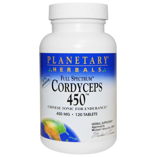 Planetary Herbals, Cordyceps 450, Full Spectrum, 450 mg, 120 Tablets Review
