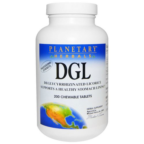 Planetary Herbals, DGL, Deglycyrrhizinated Licorice, 200 Chewable Tablets Review
