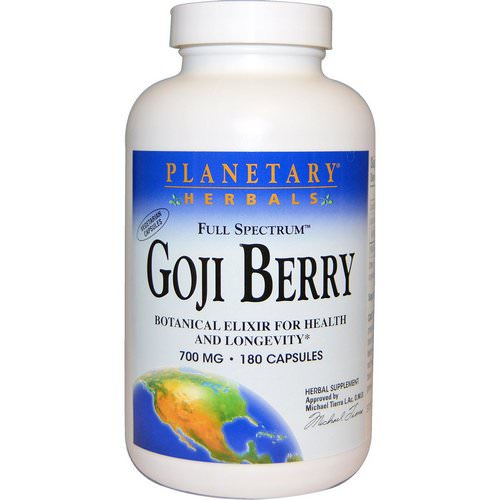 Planetary Herbals, Full Spectrum Goji Berry, 700 mg, 180 Capsules Review