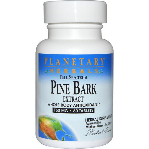 Planetary Herbals, Full Spectrum, Pine Bark Extract, 150 mg, 60 Tablets Review