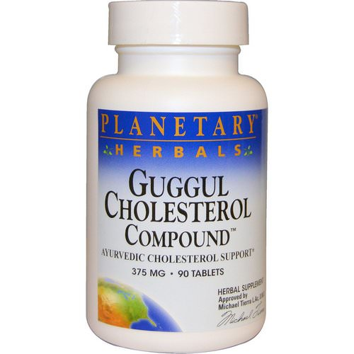 Planetary Herbals, Guggul Cholesterol Compound, 375 mg, 90 Tablets Review