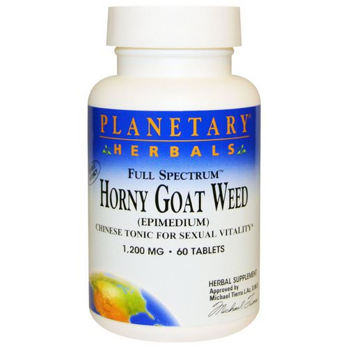 Planetary Herbals, Horny Goat Weed, Full Spectrum, 1,200 mg, 60 Tablets Review