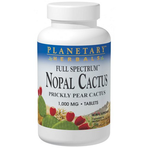 Planetary Herbals, Nopal Cactus, Full Spectrum, Prickly Pear Cactus, 1,000 mg, 120 Tablets Review