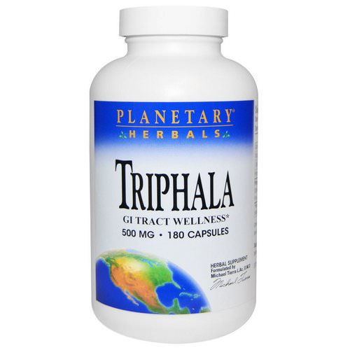 Planetary Herbals, Triphala, GI Tract Wellness, 500 mg, 180 Capsules Review
