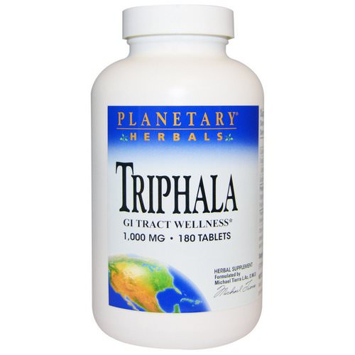 Planetary Herbals, Triphala, GI Tract Wellness, 1,000 mg, 180 Tablets Review