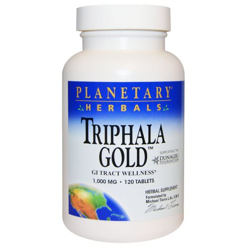 Planetary Herbals, Triphala Gold, GI Tract Wellness, 1,000 mg, 120 Tablets Review