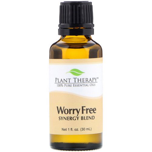 Plant Therapy, 100% Pure Essential Oils, Worry Free, 1 fl oz (30 ml) Review