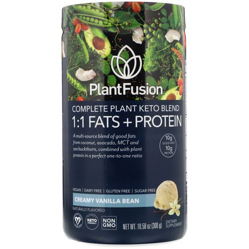 PlantFusion, Complete Plant Keto Blend, 1:1 Fats + Protein, Creamy Vanilla Bean, 10.58 oz (300 g) Review