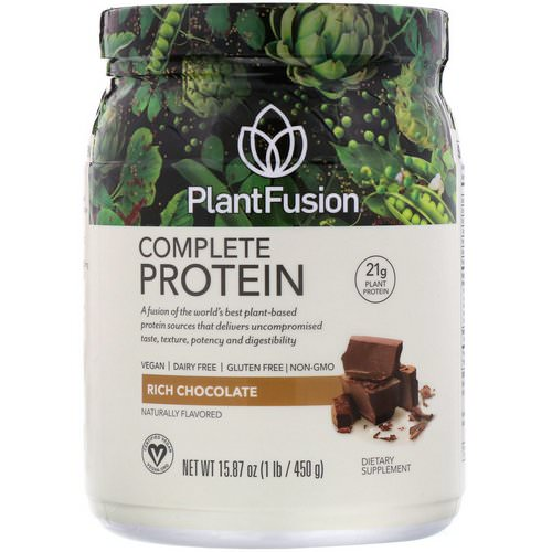 PlantFusion, Complete Protein, Rich Chocolate, 1 lb (450 g) Review