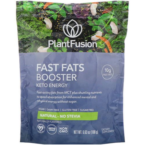 PlantFusion, Fast Fats Booster, Keto Energy, Natural, 6.63 oz (188 g) Review