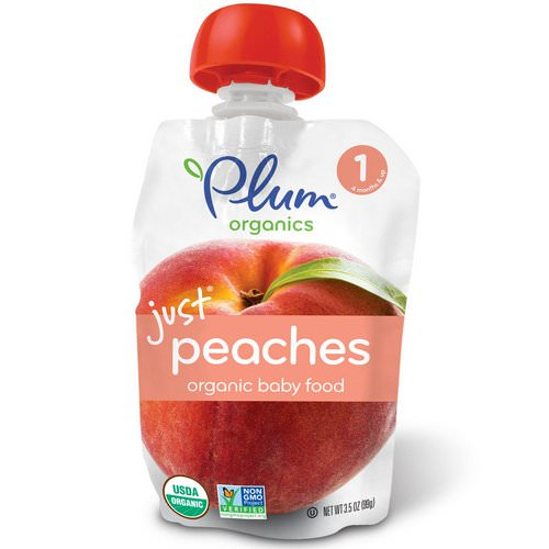 Plum Organics, Organic Baby Food, Stage 1, Just Peaches, 3.5 oz (99 g) Review