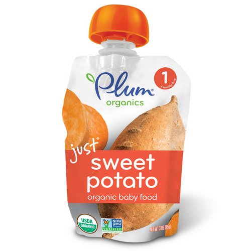 Plum Organics, Organic Baby Food, Stage 1, Just Sweet Potato, 3 oz (85 g) Review