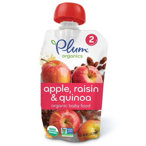 Plum Organics, Organic Baby Food, Stage 2, Apple Raisin & Quinoa, 3.5 oz (99 g) Review