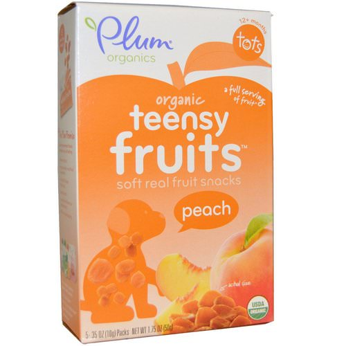 Plum Organics, Tots, Organic Teensy Soft Fruits Snacks, Peach, 12+ Months, 5 Packs, .35 oz (10 g) Each Review