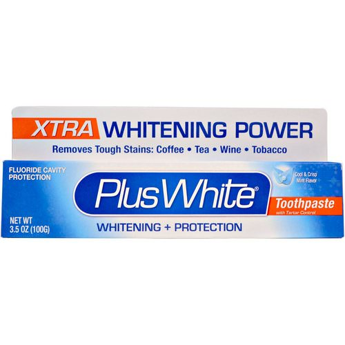 Plus White, Xtra Plus White Toothpaste with Tartar Control, Cool & Crisp Mint Flavor, 3.5 oz (100 g) Review