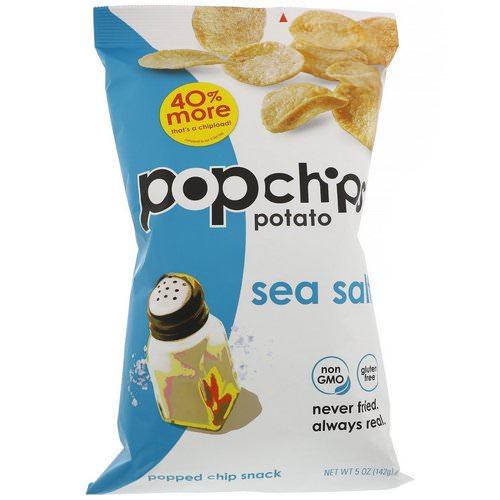 Popchips, Potato Chips, Sea Salt, 5 oz (142 g) Review