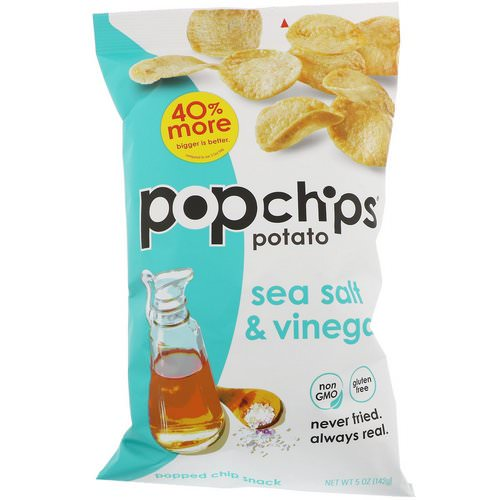 Popchips, Potato Chips, Sea Salt & Vinegar, 5 oz (142 g) Review