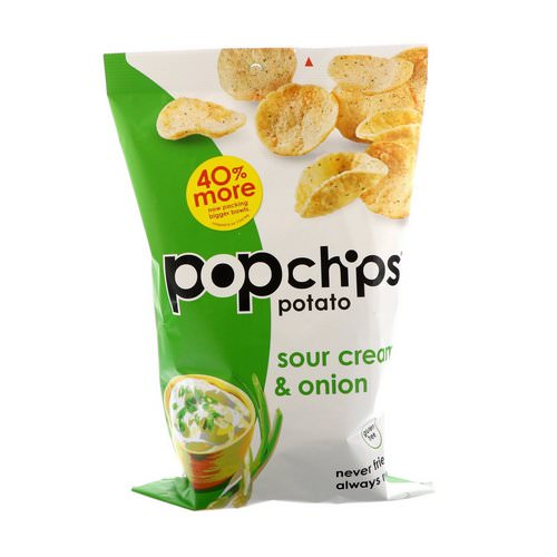 Popchips, Potato Chips, Sour Cream & Onion, 5 oz (142 g) Review