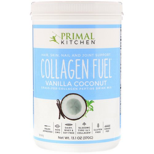 Primal Kitchen, Collagen Fuel, Grass-Fed Collagen Peptide Drink Mix, Vanilla Coconut, 13.1 oz (370 g) Review