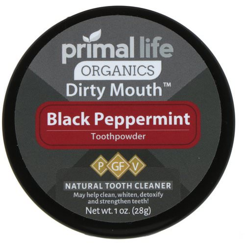 Primal Life Organics, Dirty Mouth Toothpowder, Black Peppermint, 1 oz (28 g) Review