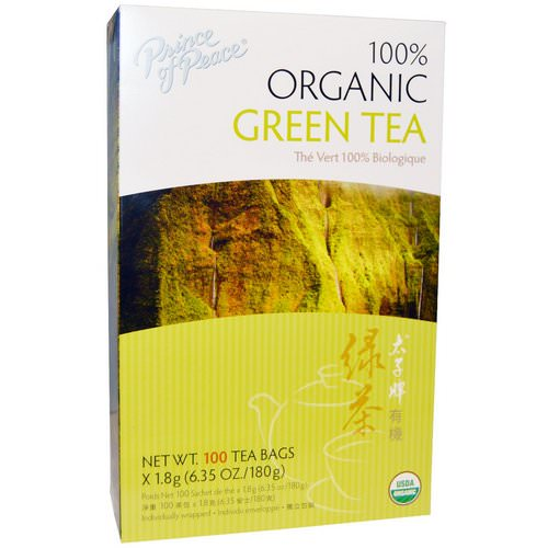 Prince of Peace, 100% Organic Green Tea, 100 Tea Bags, 1.8 g Each Review
