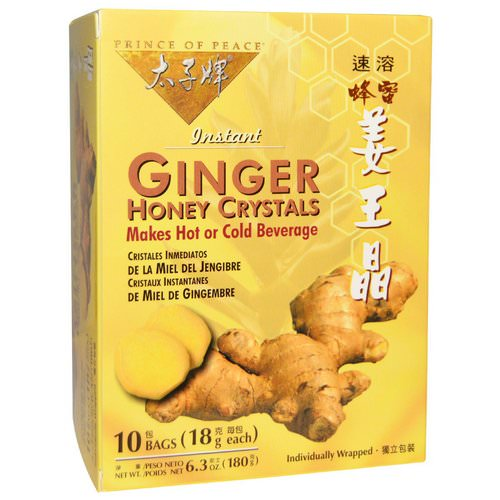 Prince of Peace, Instant Ginger Honey Crystals, 10 Bags, (18 g) Each Review