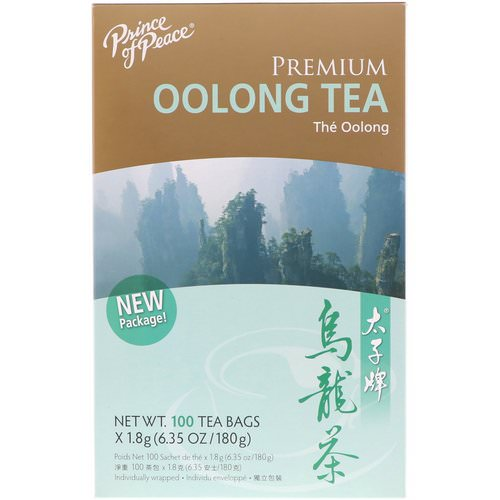 Prince of Peace, Premium Oolong Tea, 100 Individually Wrapped Tea Bags, (1.8 g) Each Review